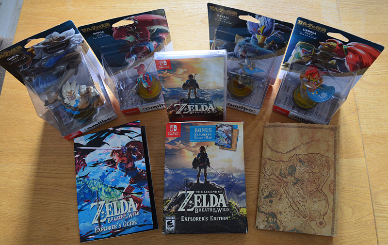 Zelda Breath of the Wild Explorer's Edition + Amiibo Prodiges [Switch]